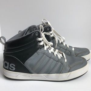 Adidas leather high top shoes size 9